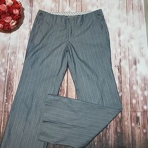 Gap 6 Long gray striped cotton pants